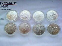 1995-1996 United States Olympic Games 8 Coin Commemorative Coin Uncirculated Set