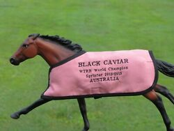 BLACK CAVIAR TB embroidered blanket Breyer thoroughbred AUSTRALIA race horse