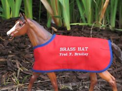 BRASS HAT TB embroidered blanket Breyer thoroughbred race horse