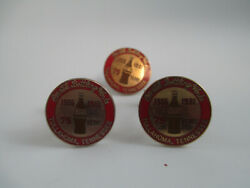 Coca-cola Bottling Works Tullahoma 75th Anniversary Cuff Links And Tie Pin Set