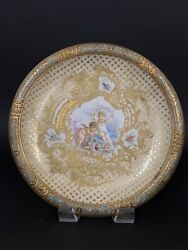 Large 19th C. French Champleve Enamel And Sevres Porcelain Charger