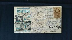 Basketball Hall Of Fame Hof Signed Autographed First Day Cover Fdc 18 Deceased