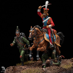 Red Lancer Hunting For Grasshopper Waterloo Painted Toy Soldier Pre-sale | Art