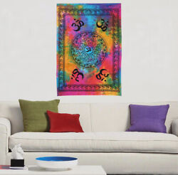 Tapestry Wall Hanging Decor Indian Multi Color Om Mandala Hippie Poster Bohemian