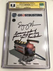 Cgc Ss 9.8 Ghostbusters Convention Exclusive 1 Signed By Weaver Moranis Hudson