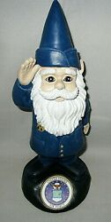 Garden Accent Extra Large Military Gnome United States Air Force 11 Tall