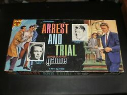 Arrest And Trial Game Transogram Games 1963 Excellent Vintage Condition