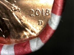 Five Uncirculated Unsearched 2018 D Lincoln Penny Rolls -search 4 New Double Ear