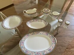 Wedding Noritake Fine China Full Service For 12 W/serving Pieces Embassy Suite