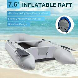 Pvc Inflatable Boat 7.5' Raft Ideal For Boating Fishing Hunting More