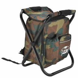 Portable Camping Stool Outdoor Folding Backpack Cooler Insulated Chair 150kg $43.69