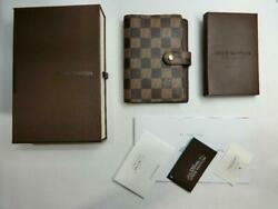 Louis Vuitton Agenda PM Damier's notebook cover m53233111963 Pre-owned Japan