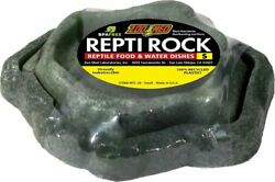 Zoo Med Combo Reptile Rock Food and Water Dish for Bearded Dragon Leopard Gecko