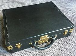 Authentic Louis Vuitton President Hard Sided Black Briefcase W/2 Keys France