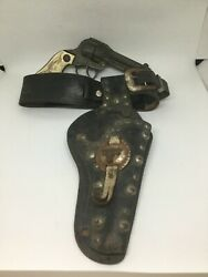 Vintage Western Holster, Hopalong Cassidy And Toy Revolver From The 40's Or 50's