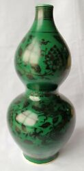 A Chinese Antique Rare And Beautiful Ming Dynasty Green Glaze Draw With Dragon