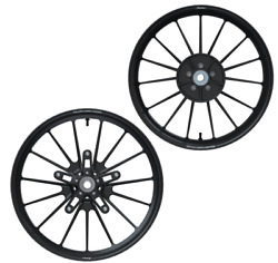 Indian Motorcycle Black Front And Rear Tracker Wheel Set For 2020 Ftr 1200 Imc
