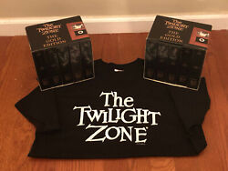 The Twilight Zone Gold Edition Dvd Complete Series 1959-1964 + Original Shirt