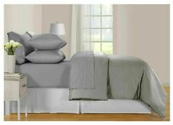 Hotel Signature Sateen 6-piece 800tc Sheet Set Queen Gray New With Tag
