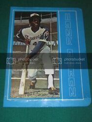 Hank Aaron - 1970and039s Spiral School Paper Notebook Photo Cover Picture