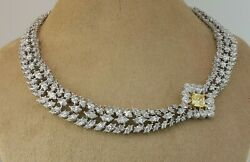 Yellow 925 Sterling Silver Cocktail Floral Collar Necklace Party Wear Jewelry