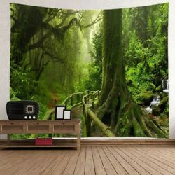USA Forest Tapestry Nature Tree Wall Hanging Print Bedspread Throw Room Decor