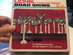 Lionel Road Signs For Your 0 And 027 Gauge Scale Railroad - 13 Signs 6-2180