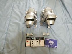 Works Tekno The Robotic Puppy 14600 By Manley Toyquest Lot Of 2 Puppies