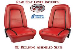 Fully Assembled Oe Reclining Deluxe Seats And Folding Rear Seat Cover 1967 Camaro
