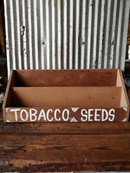 Antique Tobacco Seeds Wood Display Shelf Sign Feed Seed Advertising Kentucky