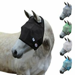 Premium Reflective Safety Horse Fly Mask No Ears Or Nose Cover 1 Year Warranty