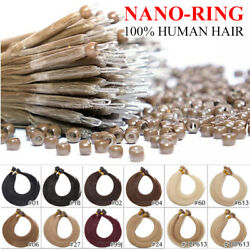 1g/s Nano Ring Tip Micro Loop Beads 100 Russian Remy Human Hair Extensions 200s