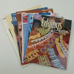 Crochet Booklets - Edgings Insertions Needlepoint Counted Cross Stitch Rugs