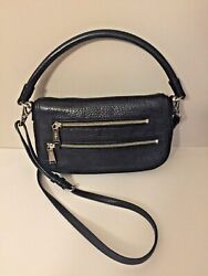 Cole Hann Black leather crossbody women's purse bag $29.99