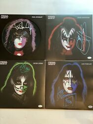 Kiss Signed Albumrecordvinyl By all 4 members Rare JSAPSA (2)