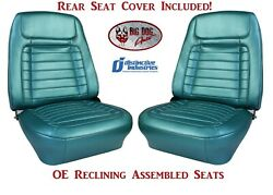 Assembled Oe Reclining Deluxe Seats And Rear Folding Seat Upholstery 1968 Camaro