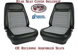 Assembled Oe Deluxe Reclining Seats And Rear Seat Cover - 1968 Camaro Convertibles