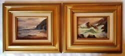 2 Signed B Stewart 11.5 X 13.5 In Frames And 5 X 7 In Seascapes And039 Double Framed And039