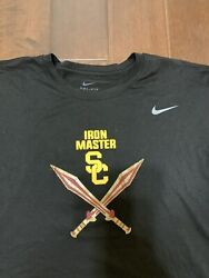 Usc Trojans Nike Football Shirt Xl Team Issued Conditioning Weight Iron Master