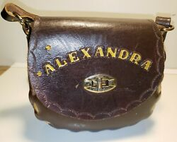 Vintage Leather Tooled Purse Western Custom  For Alexandra with A Giraffe Design $9.99