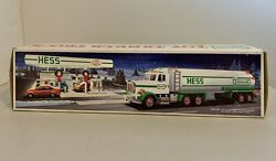 Vtg. 1990 Collectors Hess Toy Dual Sound Back-up Real Lights Tanker Truck W/ Box
