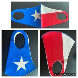 Texas Flag Style White Red Blue Nylon Face Mask Reusable Washable Breathable $6.95