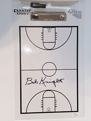 Coach Bobby Knight Indiana Hoosiers Signed Autographed Clipboard Jsa