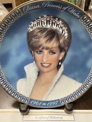 Franklin Mint Diana Princess Of Wales Tribute Collector Plate W/coa