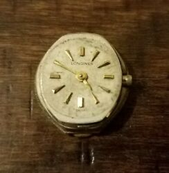 Vintage 1966 10k Gold Filled Longines Womens Watch Dial, Case Back, 410 Movement