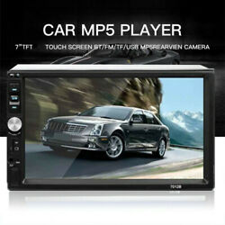 Car Radio 7 1080p Touch Screen Audio Stereo Bluetooth Video Mp5 Multimedia Play