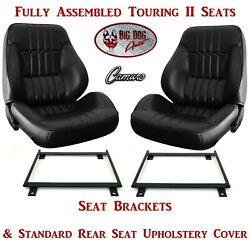 Standard Touring Ii Assembled Seats Brackets And Rear Seat Cover For 1973 Camaro