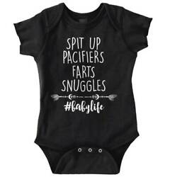Spit Up Pacifiers Snuggle Baby Clothes  Cute Newborn Romper Bodysuit For Babies $9.99