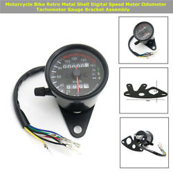 Metal Motorcycle Shell Digital Speed Meter Odometer Tachometer Gauge Bracket