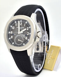 BRAND NEW PATEK PHILIPPE Aquanaut 5164A-001DualTime Stainless Steel 40.8mm P-84